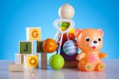 stock photo of teething baby  - Baby toys - JPG