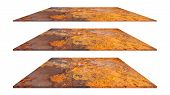 Rusty Metal Plate Texture Or Rusty Metal Background. Rusty Metal For Interior Exterior Decoration De poster