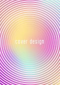 Gradient Cover Template. Minimal Trendy Layout With Halftone. Futuristic Gradient Cover Template For poster