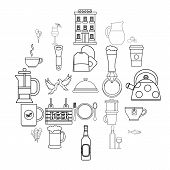 Spirit Icons Set. Outline Set Of 25 Spirit Vector Icons For Web Isolated On White Background poster