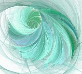 An Abstract Computer Generated Modern Fractal Design. Abstract Fractal Color Texture. Digital Art. A poster