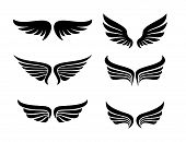 Vector Star Wings Logo, Wing Logo Company, Icon Wing Flying, Eagle Wing Brand And Logotype Wing Bird poster