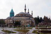 picture of rumi  - Mevlana mosque in the center of Konya Turkey - JPG