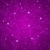 Abstract background with sparkling, twinkling stars. Universe