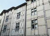 pic of poitiers  - Medieval half timbered houses in Poitiers France - JPG