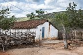 stock photo of mud-hut  - Poor mud house in the northeastern Brazilian - JPG