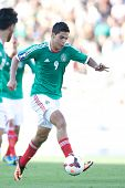 PASADENA, CA - JULY 7: Raul Jimenez #9 of Mexico during the 2013 CONCACAF Gold Cup game between Mexi