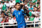 PASADENA, CA - JULY 7: Jonathan Orozco #1 of Mexico during the 2013 CONCACAF Gold Cup game between M