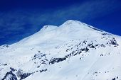 picture of toboggan  - Beautiful view of mountains in the Elbrus area - JPG