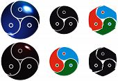 stock photo of triskelion  - Bdsm signs in different forms - JPG