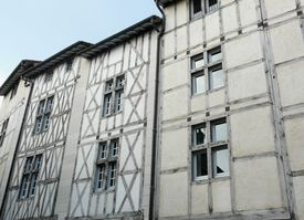 foto of poitiers  - Medieval half timbered houses in Poitiers France - JPG