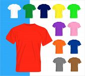 stock photo of t-shirt red  - Set of different colored t - JPG