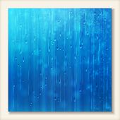 stock photo of raindrops  - Blue shiny rain - JPG