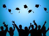 stock photo of tutor  - Education Graduation Showing Graduates Tutoring And Study - JPG