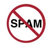 picture of no spamming  - sign  - JPG