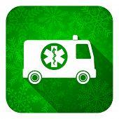 picture of ambulance  - ambulance flat icon - JPG