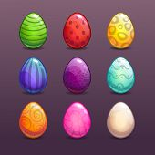 pic of differences  - Colorful eggs in different colors - JPG