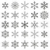 foto of x-files  - Christmas gray snowflakes on the white background - JPG