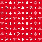 picture of x-files  - Christmas white snowflakes on the red background - JPG
