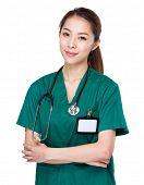 picture of polite girl  - Asian Doctor portrait - JPG