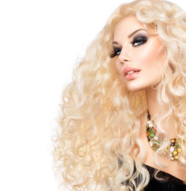 stock photo of perm  - Curly hair - JPG