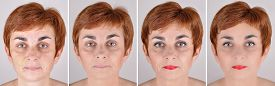 picture of step-up  - A set of  four portraits of the same woman - JPG