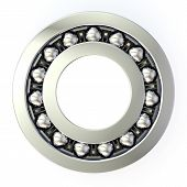 image of ball bearing  - Double row ball bearing on a white background - JPG