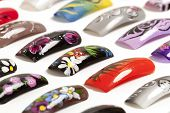 stock photo of nail-design  - Nail art handmade - JPG