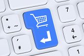 picture of cart  - Online shopping order e - JPG