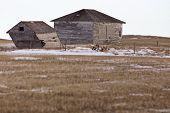 stock photo of prairie  - Prairie Landscape in winter Saskatchewan Canada scenic - JPG