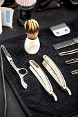stock photo of barber  - Barber tools - JPG