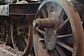 stock photo of locomotive  - Steam locomotive rusting for ages - JPG