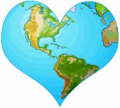 foto of greenpeace  - Illustration of earth in the form of heart - JPG