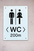 picture of segregation  - sign restrooms man woman icon for plumbing - JPG