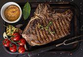 stock photo of t-bone steak  - Beef t - JPG