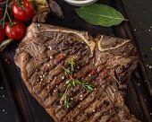image of t-bone steak  - Beef t - JPG