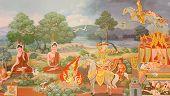 image of mural  - Thai art - JPG