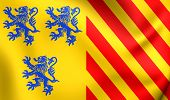 foto of limousine  - 3D Flag of Limousin - JPG
