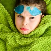 stock photo of sick  - Sick child - JPG