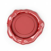 image of wax seal  - Seal wax isolated on white background - JPG
