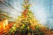pic of shaky  - Abstract circles of light blurred movements and contrasting colors - JPG