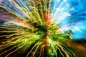 foto of shaky  - Abstract circles of light blurred movements and contrasting colors - JPG