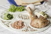 image of passover  - Jewish seder plate - JPG