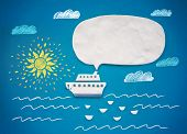 image of freedom speech  -  Ship and speech bubble - JPG