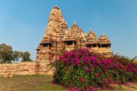 stock photo of kandariya mahadeva temple  - Kandariya Mahadeva temple - JPG