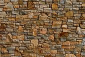 pic of wall-stone  - Colorful old stone wall texture - JPG