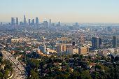 Постер, плакат: Лос Анджелес высотных зданий и небоскребов Голливуд
