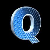 Постер, плакат: Абстрактные 3d письмо с голубым узором текстуры Q