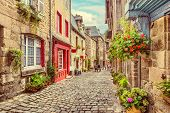 Beautiful Alley In An Old Town In Europe poster