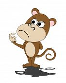 pic of dorky  - vector illustration of a dorky monkey - JPG